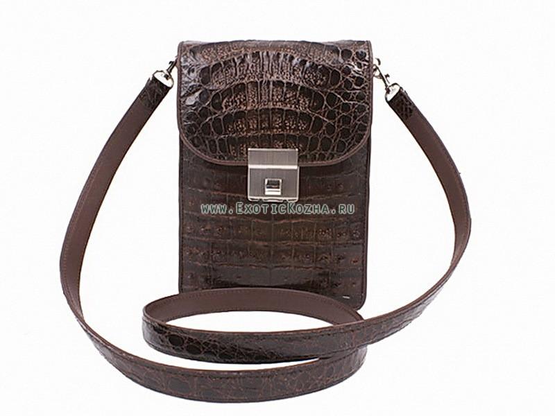 Мужская сумка из крокодила