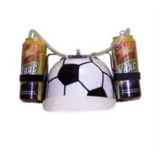 Пивная каска с подставкой под банки Футбол