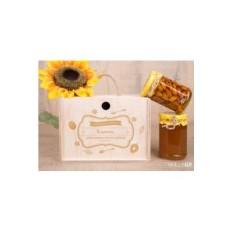 Подарочный набор из 2 банок мёда «Счастье есть»