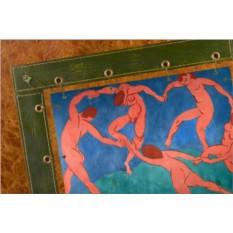 Картина из кожи Танец Анри Матисс (прямоуг. рама)