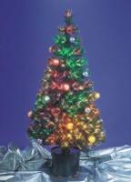 Оптоволоконная искусственная ель с цветными шарами