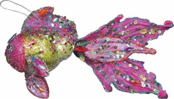 Новогоднее коллекционное елочное украшение Рыбка