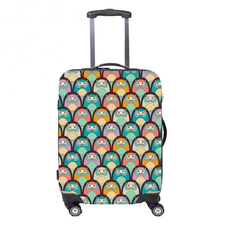 Чехол для чемодана FA FIT Совы ML