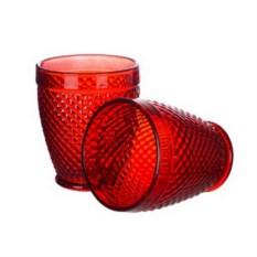 Набор стаканов из красного стекла Royal