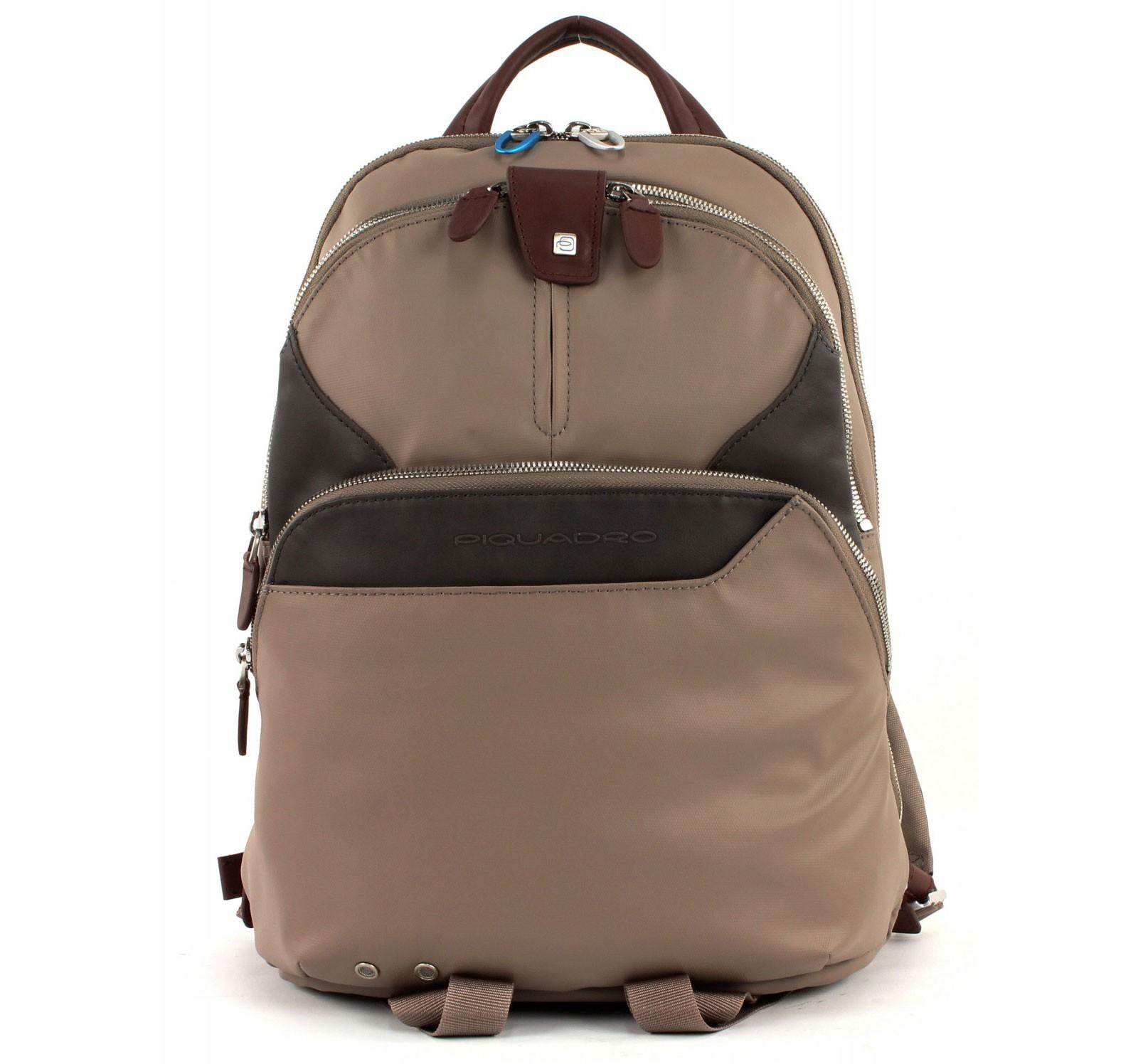 Серый компьютерный рюкзак Piquadro Coleos