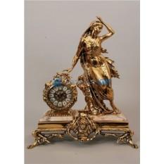 Часы из бронзы Дама античная