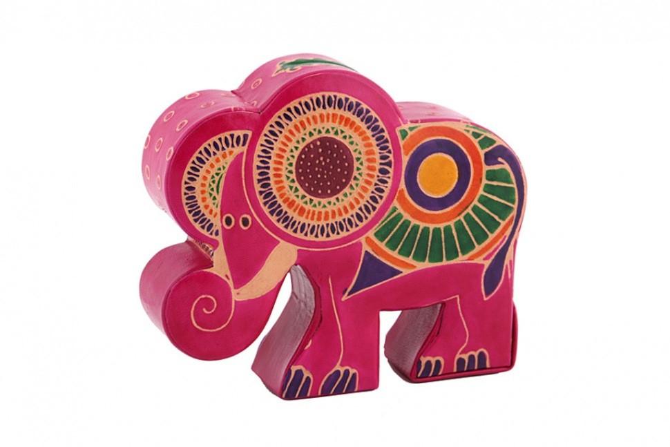 Кожаная копилка Слон