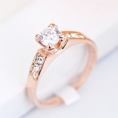 Позолоченное кольцо с цирконием и кристаллами Предложение
