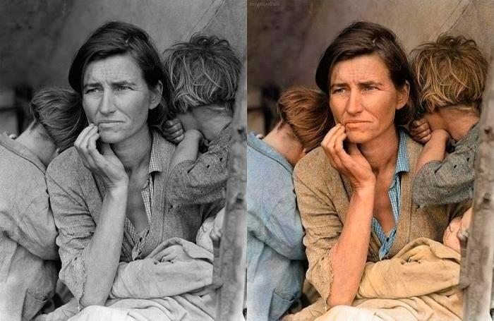 Восстановление старого фото и придание ему цвет
