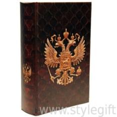 Книга-сейф с замком и ключом Герб России