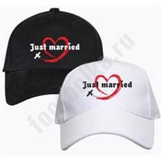 Парные бейсболки Just married