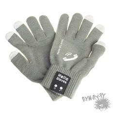 Bluetooth перчатки-гарнитура (серые)