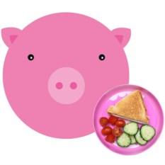 Сервировочный коврик и миска Hungry pig
