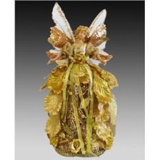 Украшение-подвеска Цветочная золотая фея