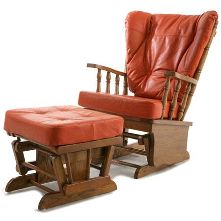 Кресло-качалка «Честер с оттоманкой»