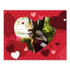 Пазл с вашим фото «Сердца»