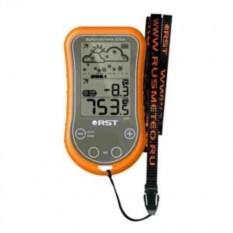 Портативная цифровая метеостанция в оранжевом корпусе