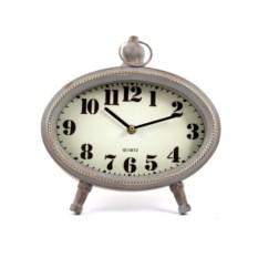 Белые с патиной настольные часы