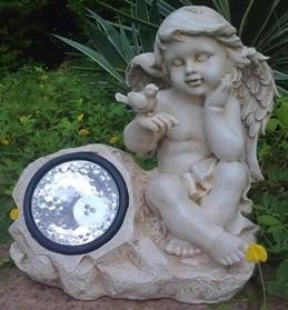 Лампа на солнечной батарее «Ангел с птичкой»