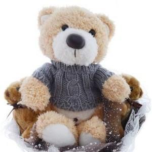 Букет из мягких игрушек 3 медвежонка