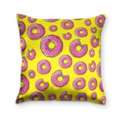 Подушка с 3D принтом Пончики