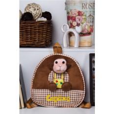 Детский рюкзак с именной вышивкой Обезьянка