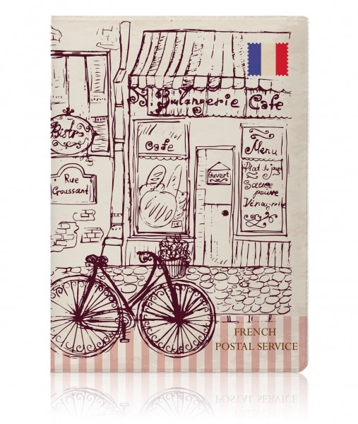 Обложка на паспорт Paris Vintage