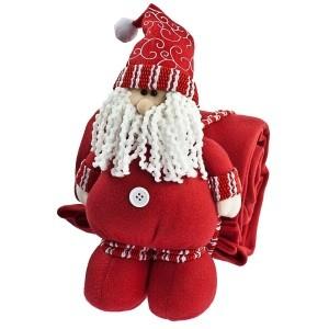 Красный Дед Мороз с пледом