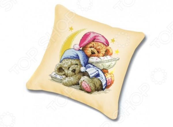 Набор для вышивания подушки Белоснежка. Два медвежонка
