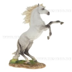Декоративная фигурка Конь (цвет — бело-серый)