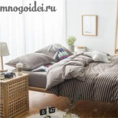 Комплект трикотажного постельного белья Молочный шоколад