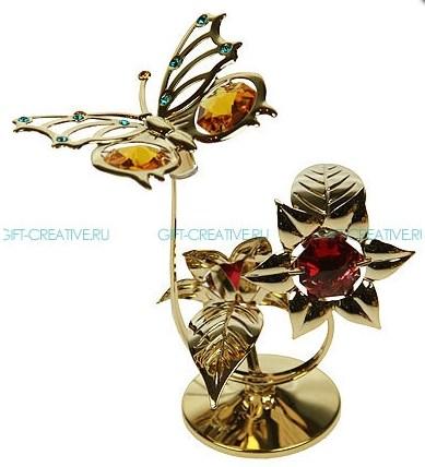 Фигурка Swarovski  Бабочка на цветке