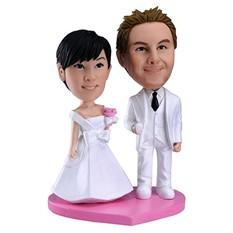 Свадебная статуэтка по фото Молодожены