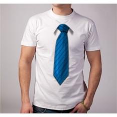 Футболка с 3D принтом Синий галстук
