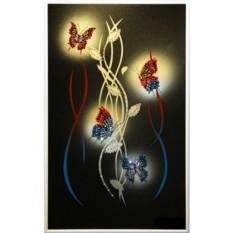 Картина с кристаллами Swarovski Огонь в ночи