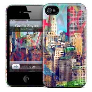 Чехол для iPhone 4/4S Gelaskins Graffiti Skyline