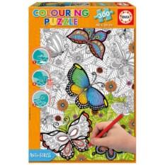 Пазл-раскраска Educa Бабочки (300 деталей)