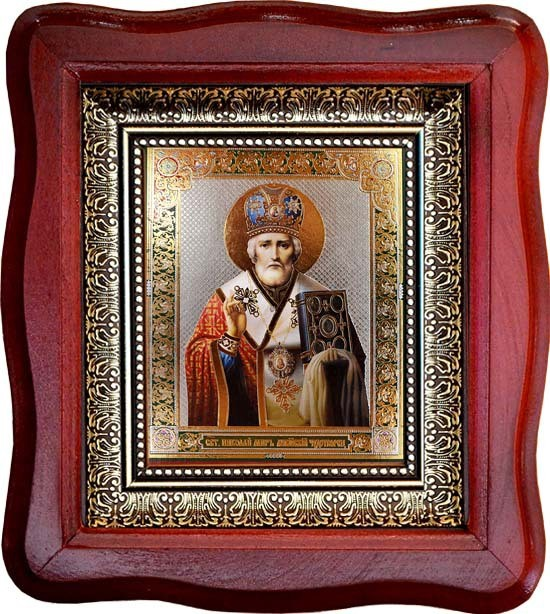 Икона на деревянной доске Николай Чудотворец