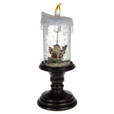 Новогоднее светящееся украшение Свеча и Дед Мороз
