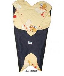 Детский конверт Denim Style Beige c прорезями для ремней
