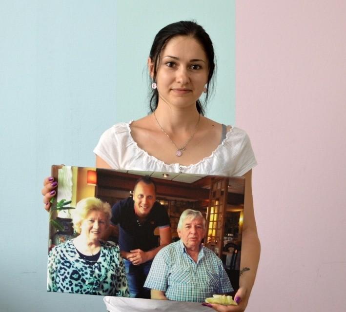 Фото на холсте в подарок дедушке