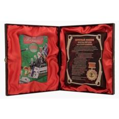 Почетный диплом юбилярши с DVD-открыткой, 35 лет