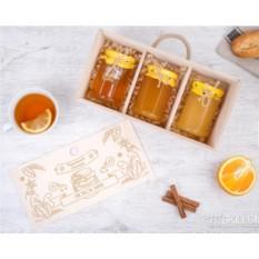 Подарочный набор мёда «Коробочка для счастья» (3 банки)