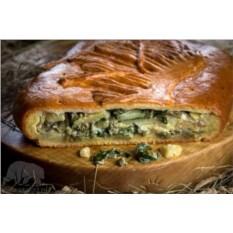 Пирог с картофелем и папоротником