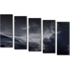 Модульная картина «Черно-белое небо» 70×41 см