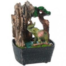 Декоративный фонтан Слон у дерева