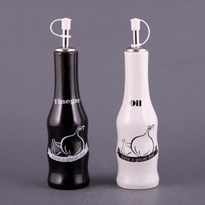 Набор бутылок для масла и уксуса «Черное и белое»