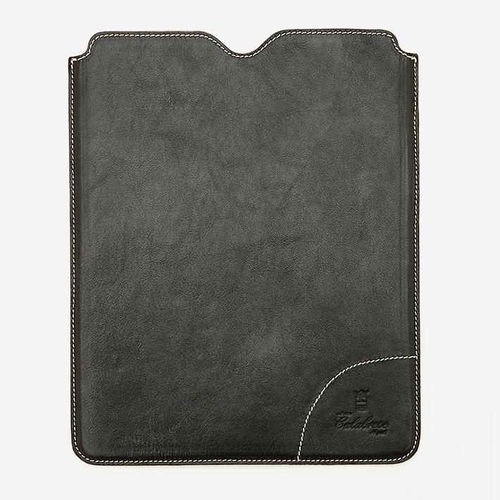 Тёмно-коричневый кожаный чехол для iPad