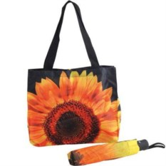 Подарочный набор Подсолнух: сумка и складной зонт