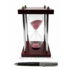 Песочные часы на 5 минут (розовый песок)